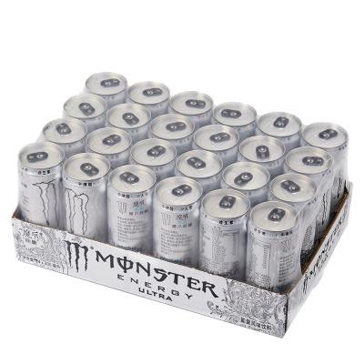 可口可乐 魔爪超越 Monster Ultra 能量型 无糖维生素饮料 330ml/罐*24 摩登罐 整箱装 运动饮料