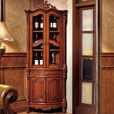 家具好货美式实木角柜欧式轻奢靠墙转角柜客厅展示酒柜角落储物柜三角边柜花角柜 整装新款放心购6012102