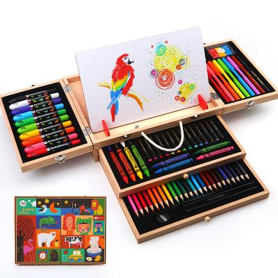Joan Miro 美樂兒童繪畫套裝工具初學者蠟筆彩色水彩筆美術用品畫畫文具禮盒