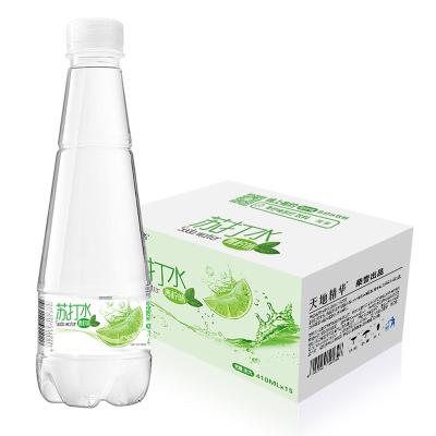 天地精华青柠味苏打水410ml*15瓶整箱 无糖无汽弱碱性