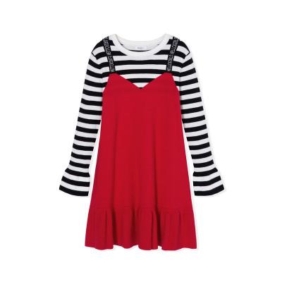 【1件5折】巴拉巴拉女童毛衣中大童打底衫儿童春秋假两件裙