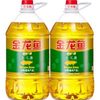 金龙鱼色拉油非转基因大豆油5L*2瓶装食用油精炼一级烘焙蛋糕炒菜