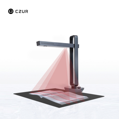 成者科技(CZUR)Aura智能扫描仪(桌面级)高清成册书籍高拍仪智能声控台灯高速AI文字识别自动检测扫描A3A4 黑色