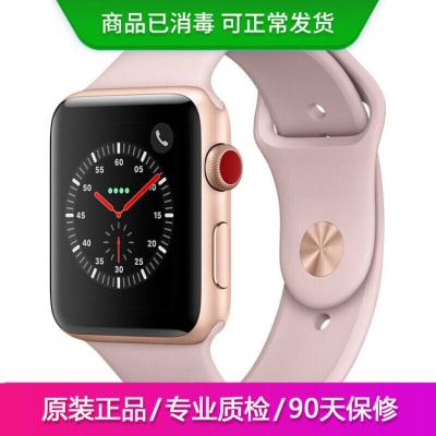 【二手95新】Apple iWatch3代 蘋果智能手表S3 原裝正品電話運動防水手表 金色 蜂窩版 38mm裸機送表帶