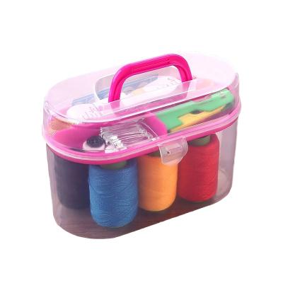 乾越(qianyue)线盒套装便携迷你针家用针线缝补针线包收纳工具整理箱十件套