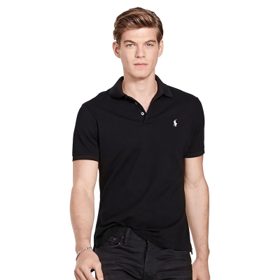 Ralph Lauren/拉夫勞倫男裝小馬標polo衫短袖翻領純色經典款修身版型棉質T恤916