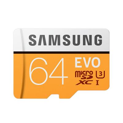 三星(SAMSUNG)64GB TF 存储卡 U3 CLASS 10 4K EVO升级版 传输速度100MB/s