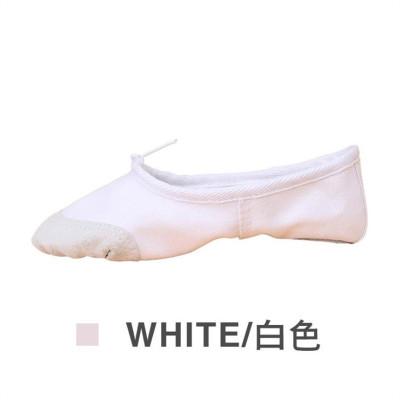 儿童舞蹈鞋女软底练功鞋形体瑜伽猫爪鞋大红成人跳舞鞋男芭蕾舞鞋 莎丞