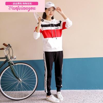 女大童运动套装新款韩版春秋装12小女孩15岁学生休闲服卫衣两件套