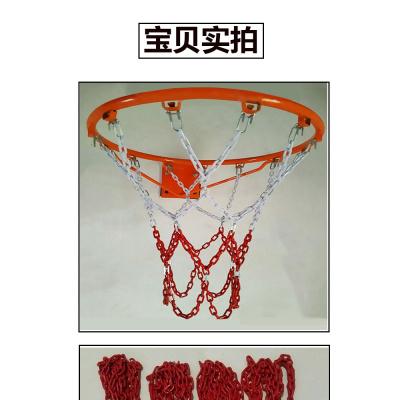 篮球网加粗铁链耐用型金属户外网兜镀锌喷塑12挂钩13扣篮球框网