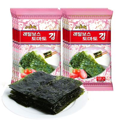 小老板海苔岩烧海苔番茄味16g即食海苔儿童孕妇零食包饭拌饭零食