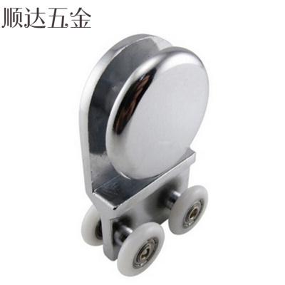 定做 淋浴房移門小吊輪子吊滑輪滾輪帶掛片浴室房配件玻璃門連體吊輪