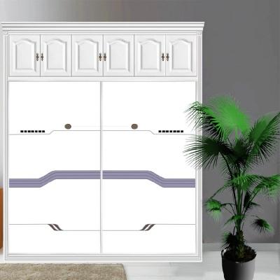 衣柜CIAA定做衣櫥推拉壁柜簡約滑動3定制鋼化玻璃衣柜移 10