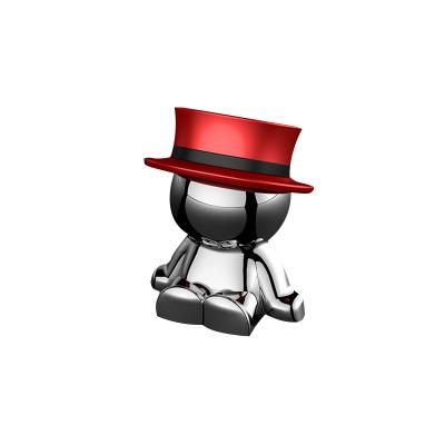 新款小人車載手機支架LOVEYOU PAI磁鐵手機支架磁吸支架 紅色