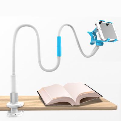 【加长加固】130厘米双节加长懒人支架 手机支架 金属旋转桌面床头手机夹架子底座 大屏手机安卓苹果通用型追剧看电视