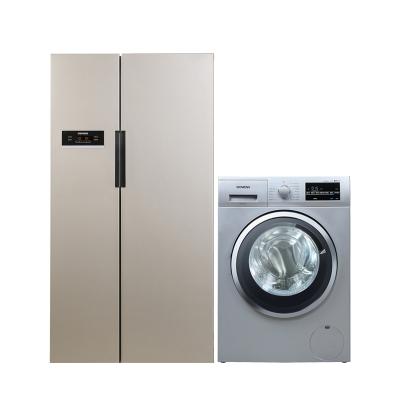 【KA92NV03TI+WD12G4681W】西門子610升風冷無霜變頻對開門冰箱+8公斤洗烘一體滾筒洗衣機