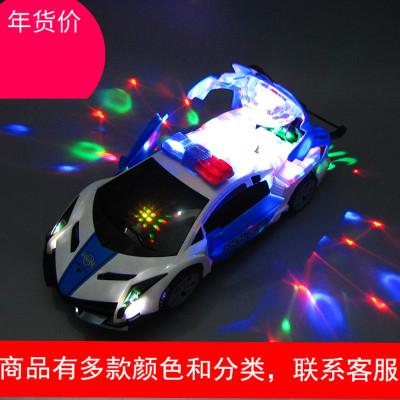 灯光音乐会跳舞旋转万向警车特技汽车泽泽百货跳舞车电动玩具男孩