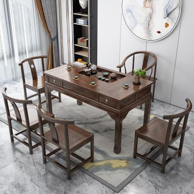 茶桌椅組合實木功夫茶幾桌茶具套裝一體茶道新中式泡茶桌家用茶臺