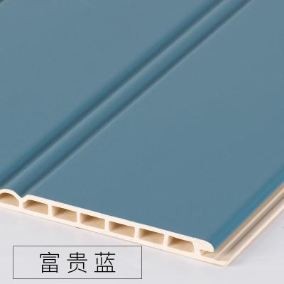 竹木纖維墻裙生態木護墻板防水墻面裝飾板吊頂材料背景墻陽臺快裝 富貴藍