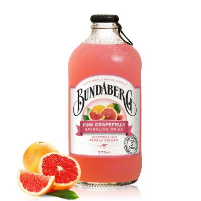 澳洲進口賓得寶(BUNDABERG)含氣粉紅葡萄柚果汁375ml 網紅果汁飲料汽水