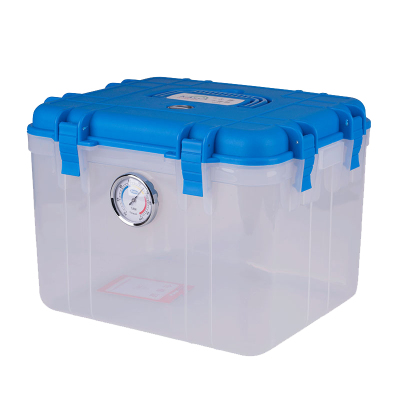 卡赛(KAssA)KS-025 单反相机防潮箱/镜头收纳箱/干燥箱 卡扣式简易锁 带吸湿卡 蓝色