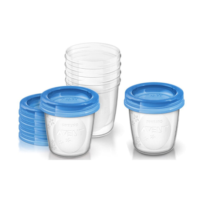 飛利浦AVENT新安怡母乳儲存杯套組180毫升儲奶杯 PP材質 易于清潔 儲奶袋/瓶 0-3歲