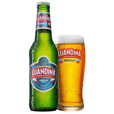 非洲安哥拉进口啤酒 罗安娜大麦芽黄啤酒 330mL*24整箱装