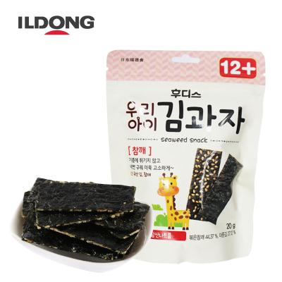 韓國進口日東福德食一歲寶寶零食非嬰兒輔食即食海苔餅干兒童零食紫菜餅干芝麻味
