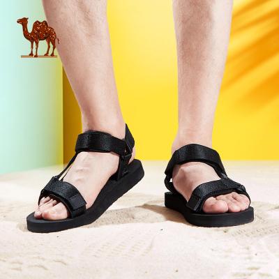 Camel駱駝涼鞋男士夏季新款青年潮流休閑沙灘涼鞋戶外運動涼鞋