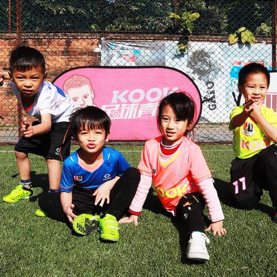 KOOK足球服套裝熒光色男孩小學生反光足球訓練服球定制比賽運動衣兒童短袖隊服