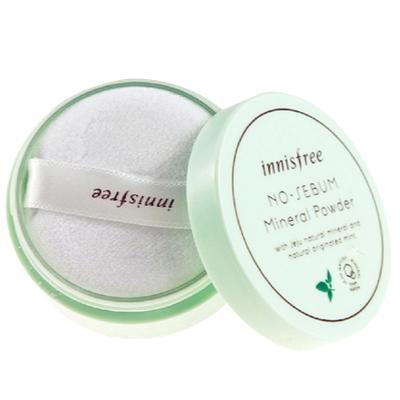 innisfree悅詩風吟控油礦物質散粉5g 蜜粉餅粉底 控油定妝持久韓國原裝正品