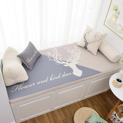 幸福派 花色飘窗垫加厚坐垫窗台垫定制海绵阳台垫子沙发卡座榻榻米沙发垫坐垫定做