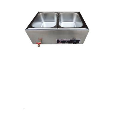 快餐保溫臺古達商用不銹鋼小型電加熱分餐臺式飯店蒸菜食堂保溫售飯臺 A2-2盆普通款