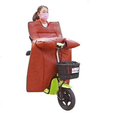 冬季电动车挡风被定制广告印字自行车防水连体挡风罩定做冬天