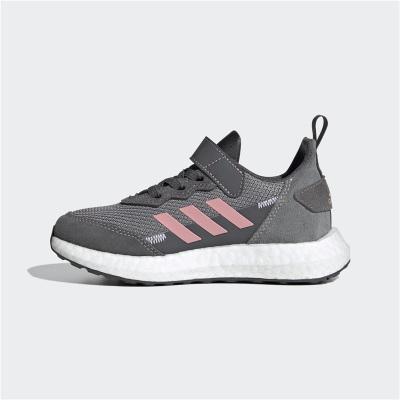 Adidas阿迪達斯童鞋2020春季新款女童魔術貼兒童休閑運動鞋FV2766