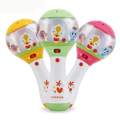 汇乐玩具(HUILE TOYS)好奇沙锤 697 新生婴幼儿宝宝灯光音乐节奏棒益智手摇铃玩具