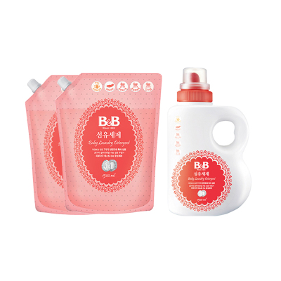 保寧 洗衣液 嬰兒衣物洗滌劑瓶裝1500ml+l兩件1500ml補充裝