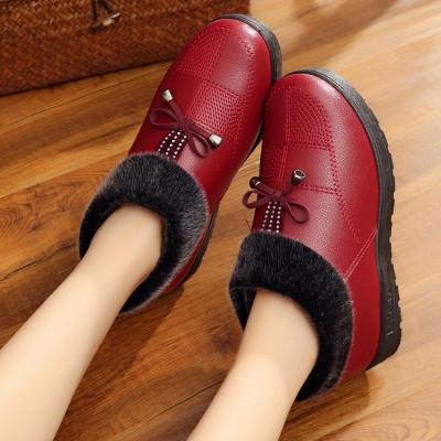 新款冬季老北京布鞋女鞋高帮防滑厚底老人鞋老年人保暖棉鞋加厚妈妈鞋