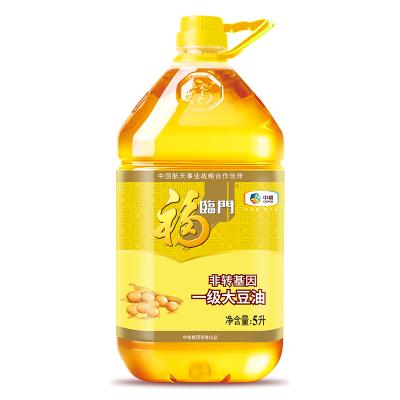 中粮福临门 非转基因 一级大豆油5L/桶 东北大豆,中粮出品