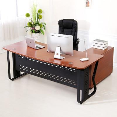 大疆(dajiang)辦公桌子辦公家具老板桌小單人桌經理桌大班臺電腦桌書桌寫字臺客廳人造板金屬腿多色可選簡約現代時尚創意