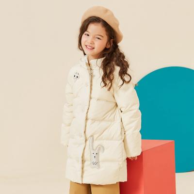 【1件3折价:162】moomoo童装女童中长款羽绒服新款冬季卡通韩版潮中大儿童外套