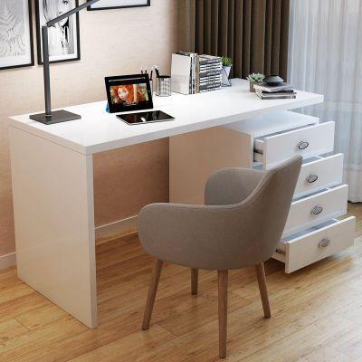 尋木匠電腦桌臺式家用書柜書架組合簡約現公桌旋轉臥室寫字臺小書桌
