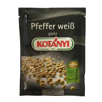 可達怡Kotanyi奧地利進口白胡椒粒21g 沙拉調料袋裝進口調味品
