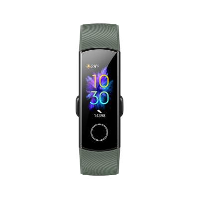 HONOR/華為榮耀智能手環5 NFC版 橄欖綠(AMOLED彩屏觸控+貼身血氧檢測+50米防水+實時心率檢測+NFC和掃碼支付+適配安卓&iOS平臺+10種運動模+14天續航 )