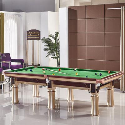 健伦(JEEANLEAN)台球桌 标准成人家用 大圆腿桌球台 大圆腿金色