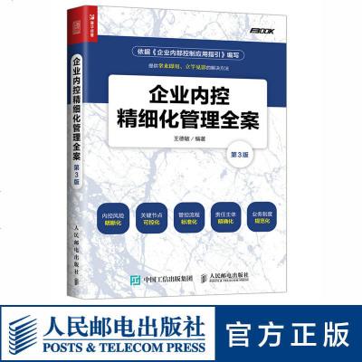 企业内控精细化管理全案 第3版 细化到每一个工作事项的流程和模板 五位一体的高效执行工具和方案大全