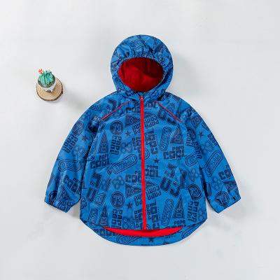 拉里寶貝Lioniebaby童裝兒童外套寶寶梭織沖鋒衣連帽防風外套2020春款新品男童LN01WS003