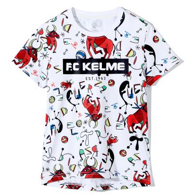 kelme(kids)童裝男童短袖T恤中大童純棉上衣2019新款夏裝半袖