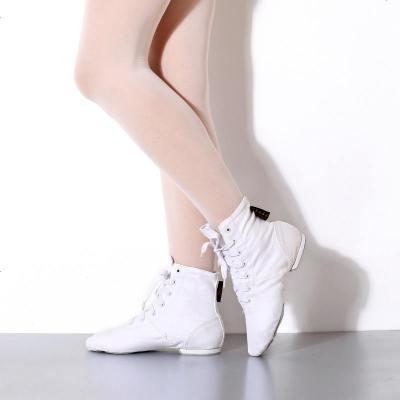 帆布爵士舞蹈靴练功鞋软底运动健身鞋跳舞鞋现代舞爵士舞鞋
