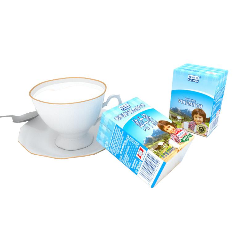 奥地利原装进口牛奶 绿林贝 UHT全脂纯牛奶 200ml*12 整箱装